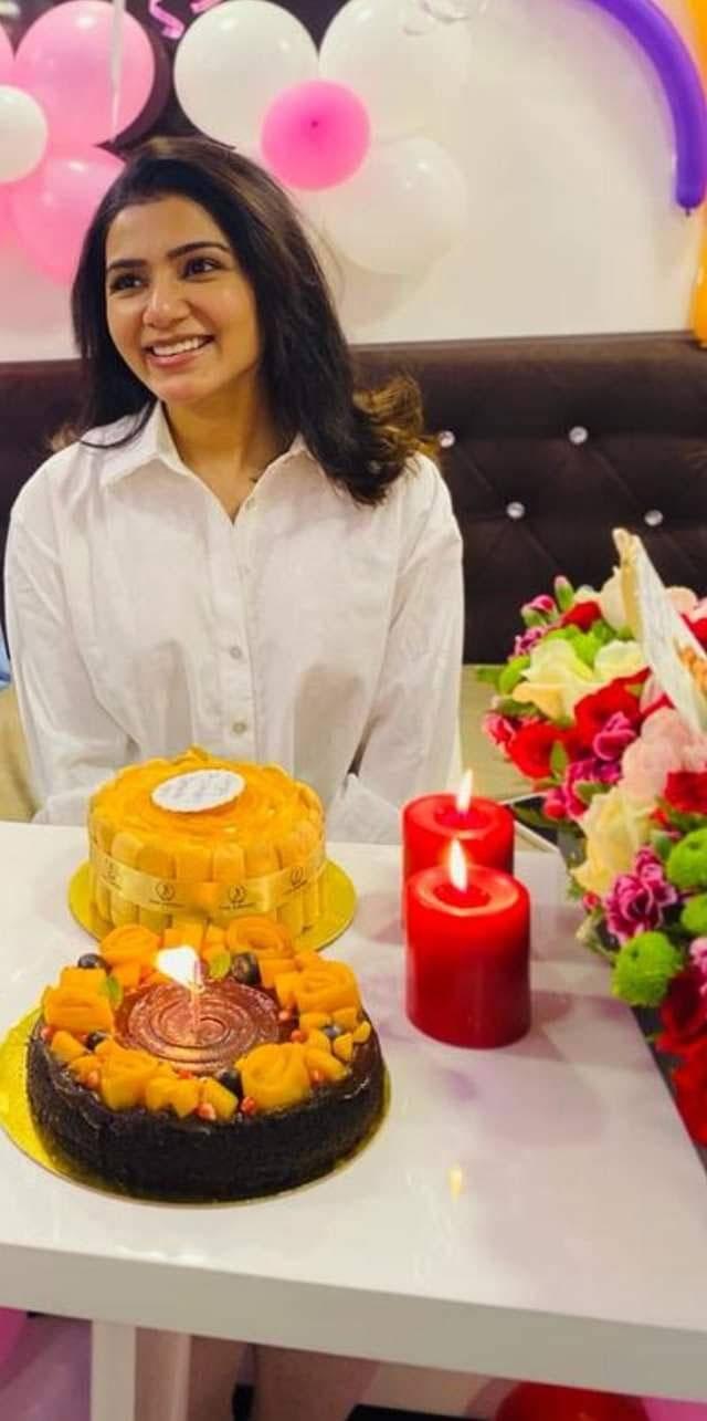 எளிமையான முறையில் பிறந்தநாள் கொண்டாடிய சமந்தா!