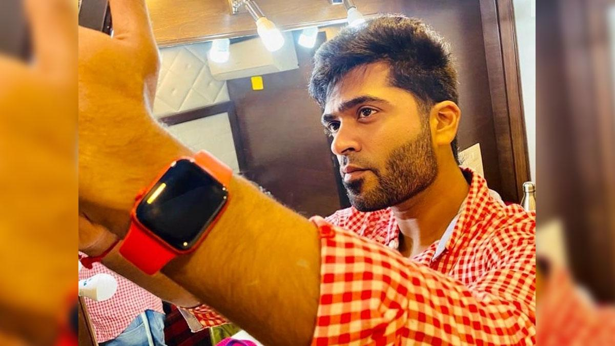 Silambarasan is a sight to behold in his recent BTS pic from 'Maanadu'